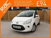 2014 Ford Ka 1.2 Edge 5 Speed Air Conditioning Only 41,000 Miles Service History