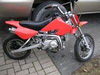 2008 motorcross 70cc 4 speed  auto ready to go, 'parle francais'