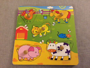 Wooden animal matching puzzle new