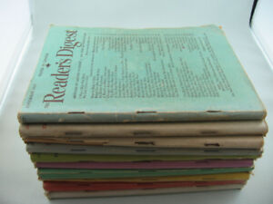Ten Issues of 1947 Reader's Digest Magazine - 70 Years Old