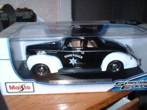 1939 ford police car diecast 1/18 scale