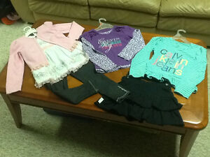 2 sets of Girls Calvin Klein Outfits