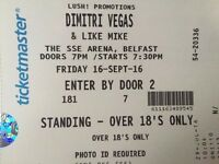 DIMITRI VEGAS AND LIKE MIKE STANDING TICKET