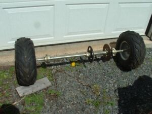 WHEELS AND AXLE