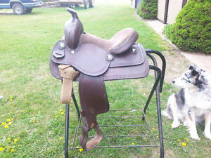 """Western 12"""" Pony Saddle Excellent Condition Deep seat."""