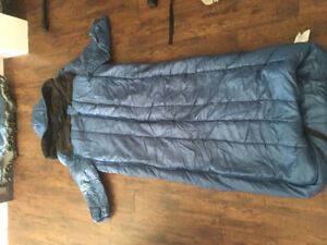 Blue Broadstone sleeping bag with arms and built in memory foam