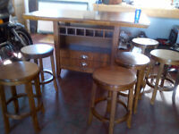 Dining Table with 6 stools