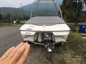 Campion Bowrider 2003 with Ez loader trailer and monster Tower