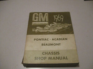 1965-69 Chevy Chevelle/GMC Factory Service Manuals $50 each