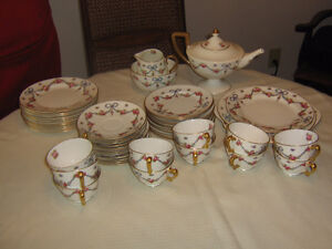 StaffordShire  crown china tea set  imported by Henry Birks Ltd.