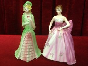 VINTAGE CERAMIC LADY FIGURINES   $15 EACH