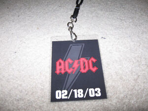 AC/DC Security-Style I.D./Lanyard Promo Item + Who Made Who cd