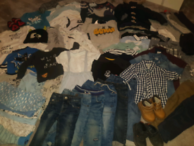 65 piece baby boys clothing bundle 12-18 months