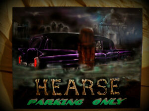 Hearse Parking Only!
