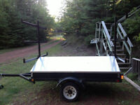 mint condition Canoe and kayak trailer