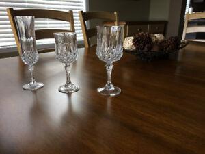 Verres Cristal D'Arques Longchamp (16 verres) *NEUFS
