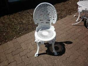 Colebrookedale cast metal outdoor patio chair Warradale Marion Area Preview