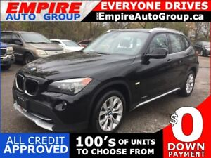 2012 BMW X1 XDRIVE 28I * 4WD * LEATHER * PANORAMIC SUNROOF