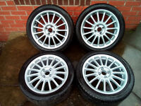 MINI 17 INCH ALLOYS AND TYRES - IMOLA STYLE (set 2)