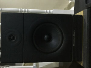 A pair of Mordaunt-Short speakers