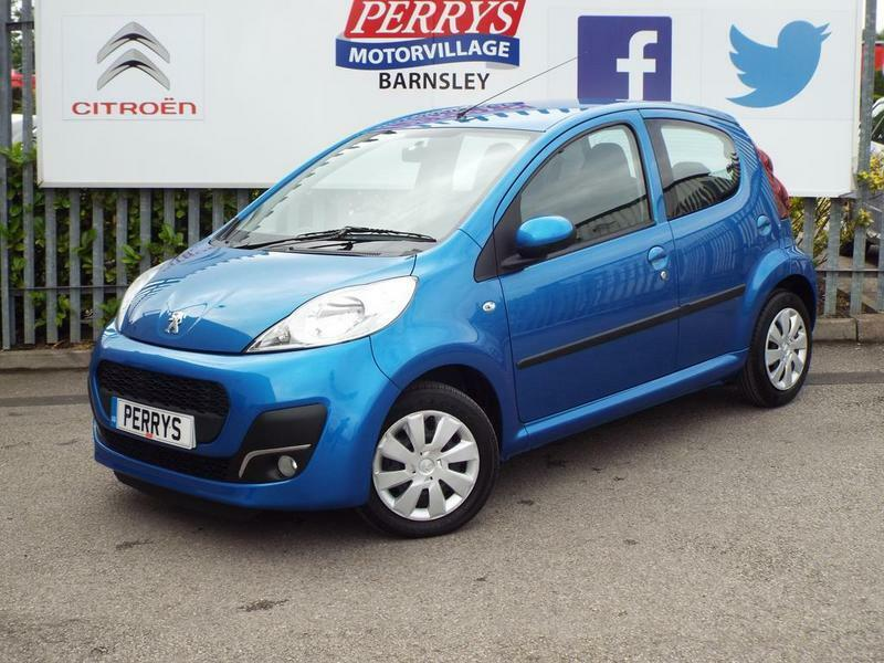 peugeot 107 1.0 active 5 door (blue) 2013 | in barnsley, south