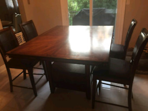 Counter height table with 4 chairs