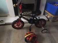 Boys Bike and Helmet Age 3plus