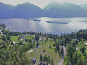 3.73 acres verlooking Kootenay Lake with home, shop & cottage!