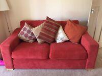 Terracotta sofa an chair