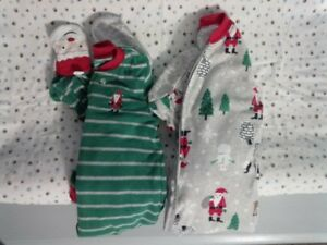 Carter's Flannel Footed PJ - Christmas 2T