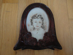 Vintage wooden handcarved picture photo frame decorative London Ontario image 1