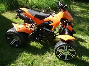 beautiful 250 cc quad with mags