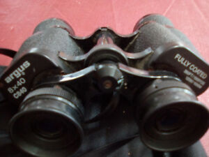 PAIR OR ARGUS BINOCULARS 8x40  WITH BAG ONLY. 10.000