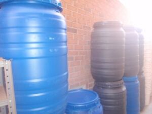 60Gal Screw Lid Water Tight Shipping/Food Barrels - $40.00each K