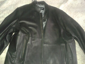 Mens Leather Jacket & Mens Columbia Boots
