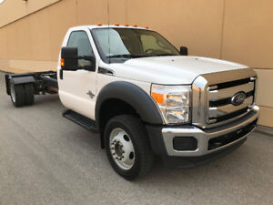2011 FORD F550 XLT 4X4 CAB AND CHASSIS ONLY 74,000KMS !!