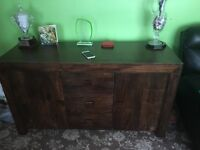 Side unit nest of tables and coffee tabel