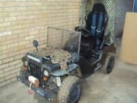 jeep willys toy car petrol engine