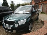 2011 Skoda Yeti 2.0TDI CR ( 110ps ) 4x4 S nice car only 1 company owner fsh