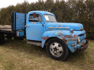 1951 Ford F-6 Stake Truck - restore or rat rod or yard art