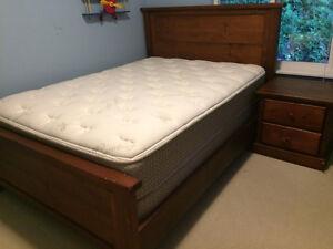 Dark wood bedroom set with double bed