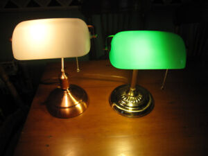 CLASSIC COPPER & CLASSIC BRASS BANKERS LAMP LAMPS