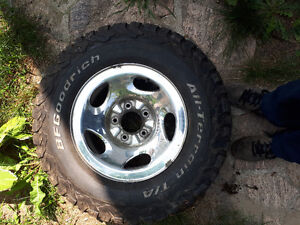 Ford f-150 all terain tires an rims all together