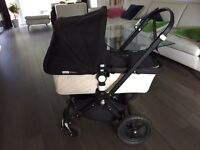Bugaboo cameleon pram pushchair limited edition black and cream with raincover