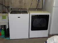AWESOME DEAL: ALMOST NEW!  MAYTAG WASHER & DRYER