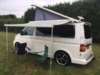 Vw t5 transporter camper motorhome hire from £90/day