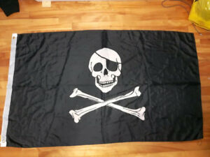 Drapeau de pirate en tissu -décoration murale - Pirate flag