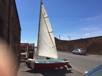 11ft Gull sailing dinghy
