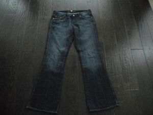 Ladies 7 For All Mankind A Pocket Flare Jeans Size 29 London Ontario image 1