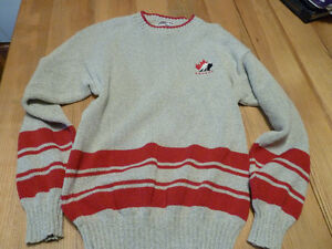 Team Canada Hockey Sweater  Wool Size Medium  Great Shape